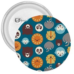Animal Pattern 3  Buttons