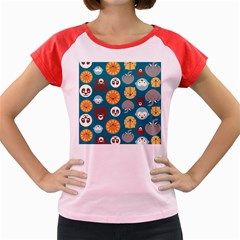 Animal Pattern Women s Cap Sleeve T-Shirt