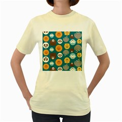 Animal Pattern Women s Yellow T-Shirt