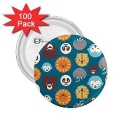 Animal Pattern 2.25  Buttons (100 pack)