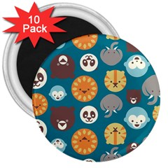 Animal Pattern 3  Magnets (10 pack)