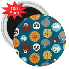 Animal Pattern 3  Magnets (100 pack)