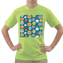 Animal Pattern Green T-Shirt