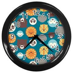 Animal Pattern Wall Clocks (Black)