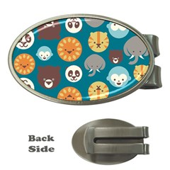 Animal Pattern Money Clips (Oval)