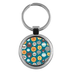 Animal Pattern Key Chains (Round)