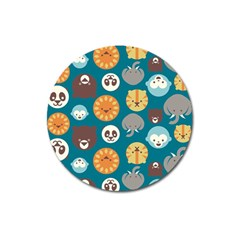 Animal Pattern Magnet 3  (Round)