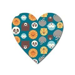 Animal Pattern Heart Magnet