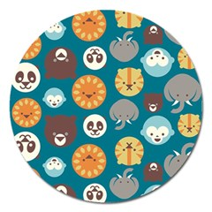 Animal Pattern Magnet 5  (Round)