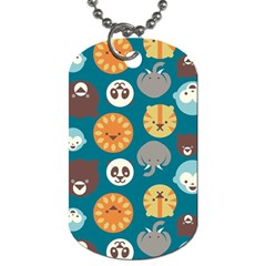 Animal Pattern Dog Tag (One Side)