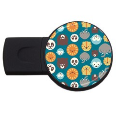 Animal Pattern USB Flash Drive Round (2 GB)