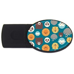 Animal Pattern USB Flash Drive Oval (2 GB)