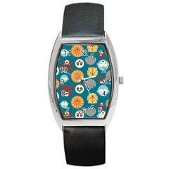 Animal Pattern Barrel Style Metal Watch