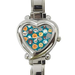 Animal Pattern Heart Italian Charm Watch