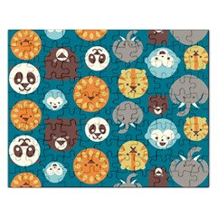 Animal Pattern Rectangular Jigsaw Puzzl