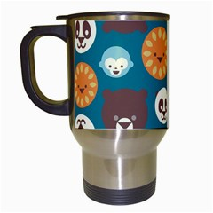 Animal Pattern Travel Mugs (White)