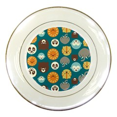 Animal Pattern Porcelain Plates