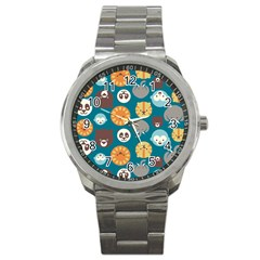 Animal Pattern Sport Metal Watch