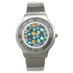 Animal Pattern Stainless Steel Watch