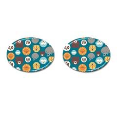 Animal Pattern Cufflinks (Oval)
