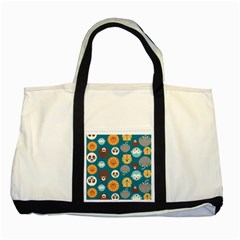 Animal Pattern Two Tone Tote Bag