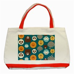 Animal Pattern Classic Tote Bag (Red)
