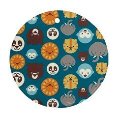 Animal Pattern Round Ornament (Two Sides)