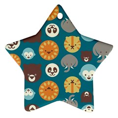 Animal Pattern Star Ornament (Two Sides)