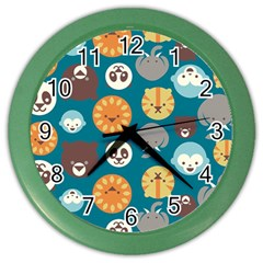 Animal Pattern Color Wall Clocks