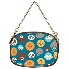 Animal Pattern Chain Purses (One Side)