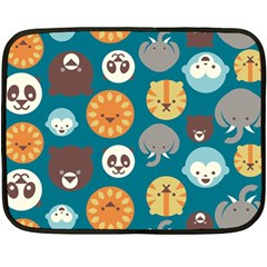 Animal Pattern Double Sided Fleece Blanket (Mini)