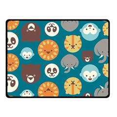 Animal Pattern Fleece Blanket (Small)