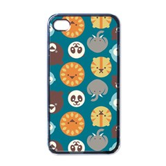 Animal Pattern Apple iPhone 4 Case (Black)