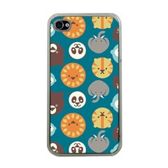 Animal Pattern Apple iPhone 4 Case (Clear)