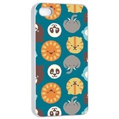 Animal Pattern Apple iPhone 4/4s Seamless Case (White)