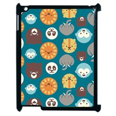 Animal Pattern Apple iPad 2 Case (Black)