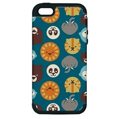 Animal Pattern Apple iPhone 5 Hardshell Case (PC+Silicone)