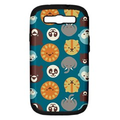 Animal Pattern Samsung Galaxy S III Hardshell Case (PC+Silicone)