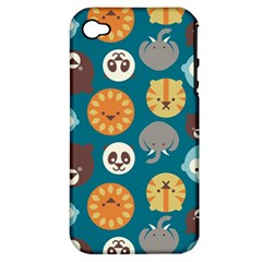 Animal Pattern Apple iPhone 4/4S Hardshell Case (PC+Silicone)