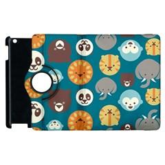 Animal Pattern Apple iPad 3/4 Flip 360 Case