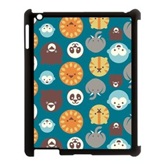 Animal Pattern Apple iPad 3/4 Case (Black)