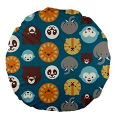Animal Pattern Large 18  Premium Round Cushions