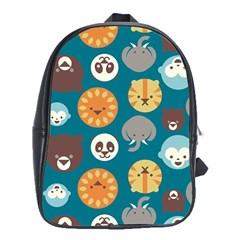 Animal Pattern School Bags (XL)