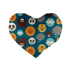 Animal Pattern Standard 16  Premium Heart Shape Cushions