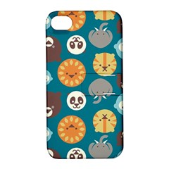 Animal Pattern Apple iPhone 4/4S Hardshell Case with Stand