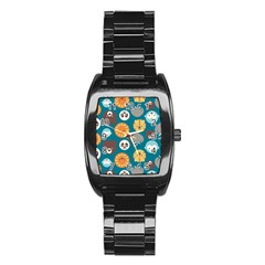Animal Pattern Stainless Steel Barrel Watch