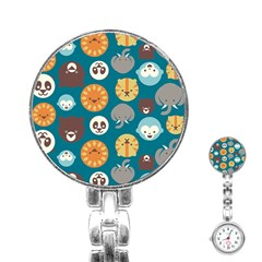Animal Pattern Stainless Steel Nurses Watch