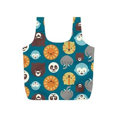 Animal Pattern Full Print Recycle Bags (S)