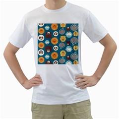 Animal Pattern Men s T-Shirt (White)
