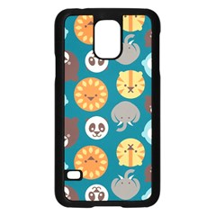 Animal Pattern Samsung Galaxy S5 Case (Black)